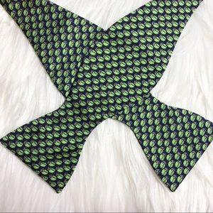 Jos A Bank silk owl bow tie